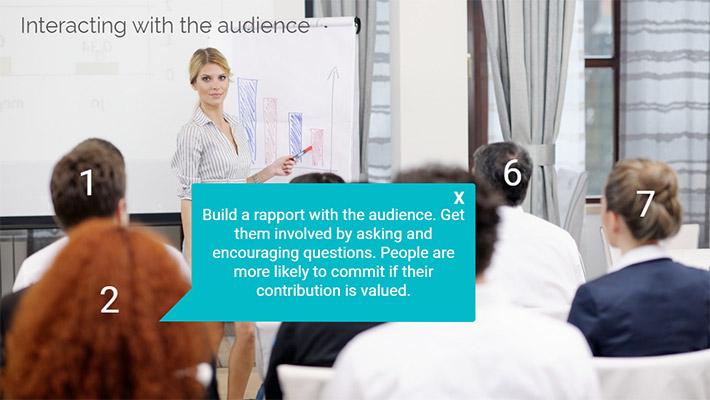 Presentation Skills eLearning course screenshot